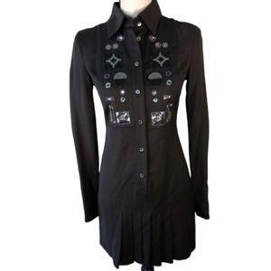 Patrizia Pepe Italian Dress w/sequin design sz40